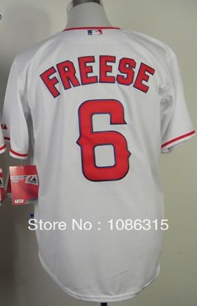 Free shipping Cheap,#6 David Freese Men's White 2014 New Embroidery sewing logos Baseball jerseys Sale.ot Promotion!(China (Mainland))