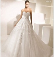 The bride wedding dress formal dress spring tube top train brief lace wedding dress new arrival 2014 married bandage train