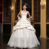 Bandage sweet 2014 elegant princess lace wedding dress the bride married bandage wedding dress