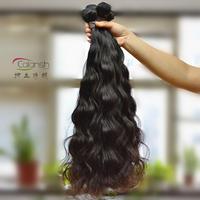 Cheap price human hair extension 5pcs per lot 50g per pc loose wave black color