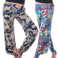 Fancy bloomers fitness yoga pants bohemia lounge pants yoga trousers