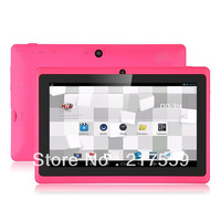 Allwinner A23 Dual Core Q88 7Inch Tablet pc 512MB 4GB WIFI Capacitive Screen 3G External 5pcs/a lot