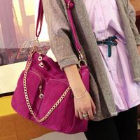 purse women Women's handbag winter 2013 all-match color block nubuck leather one shoulder  handbag messenger   shoulder bags