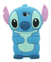 Free Shipping 3D Cartoon Stylish Stitch Style Soft Silicone Rubber Phone Shell Case for Samsung Galaxy Note 2 II N7100