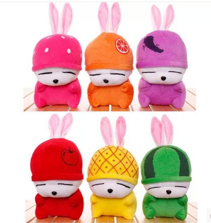 20cm 6 pieces /set fruit MashiMaro plush stuffed rabbit toy free shipping(China (Mainland))
