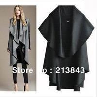 Free Shipping Hot Sale Women's Fashion Wool Coat, Ladies' Noble Elegant Cape/Shawl. Ladies Poncho Worsted Scarves Coat