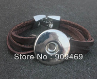 Free shipping DZS006 Duoying Jewelry Factory  Fashion Cheap Genuine Leather Charms Bracelet 6 pieces/lot