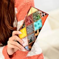 Wallet h903 cowhide patchwork women's wallet clutch bag belt boutique purse fashion bag 2014