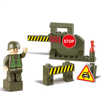 High Quality Children Kids Army Sentry Post Construction Learning Education Bricks Bricks Building Blocks Sets ABS Toys