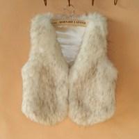 Wholesale - Wind Super Major Suit are Short Luxurious Faux Fur Vest FPC063