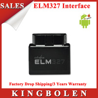 2013 Hottest Black Super MINI Elm327 Bluetooth OBD2 Scanner ELM 327 V1.5 Car Code Scanner Free Shipping