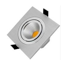 High quality, latest update,AC85~265V,3W 5W 7W 10W ,COB square ceiling spotlights, Aluminum,LED Down Light ,Free Shipping