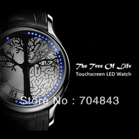 Tree of Life Led Touch Screen Digital Watch Men  Blue Light Dot Matrix Sports Watch With Manual Top Quality