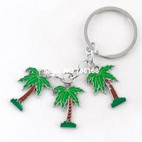 Free shipping llavero del arbol del labio fashion plant design key rings tree pendants hot sale enamel coconut tree key chains