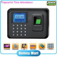 HomeyMart Free Shipping No Need Software Cheap HM5 TFT Screen Fingerprint Time Clock