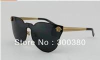 2014 New VE2120 star trend line for men and women fashion classic big box sunglasses anti Purple