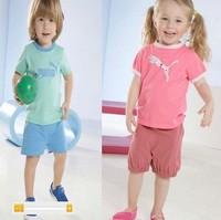 New Design Fashion Children's summer cotton t-shirt + short pant set Children's sports clothes brand boys girls leisure suit