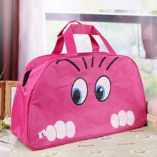 2014 New Women Lady Nylon Cat Print Travel Bags Duffle Sport Bags, Blue, Pink(China (Mainland))