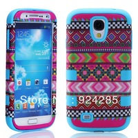 Free Shipping New Version  3in1 pieces Tribe High Impact Snap on Hybrid Case for GALAXY S4/I9500