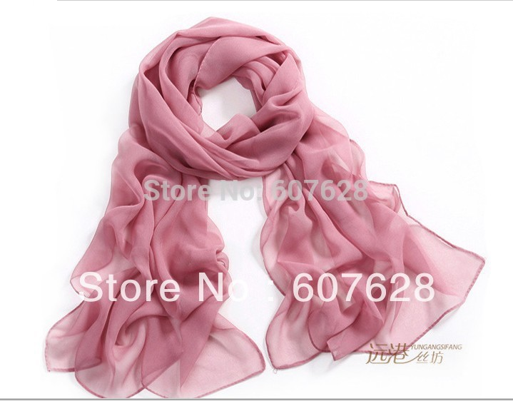 Female models georgette long scarf multicolor thin models simple plain solid color chiffon scarves wholesale scarf(China (Mainland))