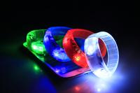 LED Voice Bracelet  Flashing Party Bracelet  Wristbands Luminance varies By Sound 100Pcs/Lot Free Shipping