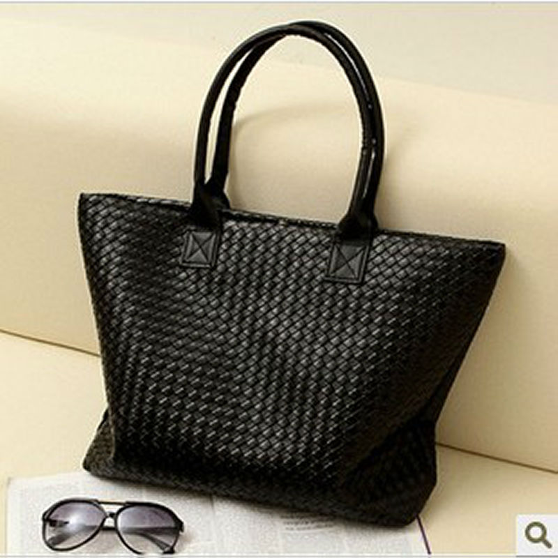 women leather handbags sale seconds kill bolsas 2014 women's handbag style knitted shoulder bag brief portable large capacity(China (Mainland))