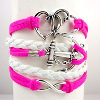 stylish heart shape faith love hope bracelet