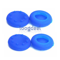 4 PCS Thumbstick Silicon Cover Grips Joystick Case for Xbox360/Xbox One/PS3/PS4 Controller Stick Blue Free Shipping