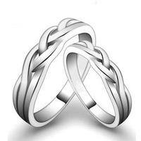 Lovers ring s925 pure silver jewelry ring pinky ring memorial gift lettering