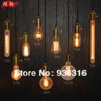 9 different models bulbs Light bulb antique light bulbs bar lamp light bulb pendant light  9 pcs Copper bases + 100cm wire