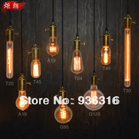 9 different models bulbs Light bulb antique light bulbs bar lamp light bulb pendant light  9 pcs Copper bases + 100cm wire