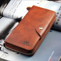Famous Fashion Mens PU Leather Wallet Credit Card Holder Long Clutch Wholesale Carteira 160217