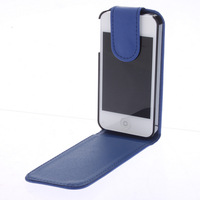 Fashion Multicolors PU Leather Fold Flip Pouch Leather Case for iPhone 4/4S Free Shipping