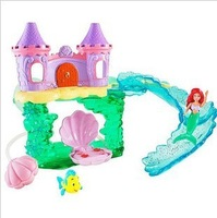 Princess Ariel Bath Castle Toys Dolls for Girls Kids Princess Castle Playset Little Mermaid Baby Bath Toy Classic Toys