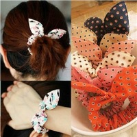 2014 HOT Sell Rabbit Ears Headband,Bowknot Hair Rope Accessories,Hair Jewelry Charms,20pcs/lot,Wholesale,Free Shipping,KL002