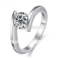 2014 Diamond Jewelry Rings Bands Romantic Anel Setting Rhinestone Plant Hot Sparkling Rhinestones Ring Engagement Rings R5908