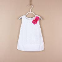 2014 Designer Girl Princess One Piece Dress   Brand  Kids Lace Sleeveless Dress  1 piece  Free shipping