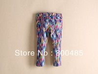 Hot sell spring autumn children Flower girls and boy  leisure pants trousers  girl jeans 5pcs/lot