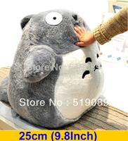 Free shipping 25CM(9.8Inch) Miyazaki Hayao My Neighbor Totoro Plush Stuffed Animal Toy Doll For Girl Friend&Birthday Gift