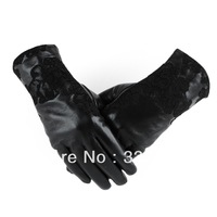 women lace gloves gloves Imported suede genuine leather sheepskin gloves lady winter warm leather gloves U.S.  BWST-22A