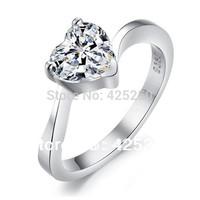2014 Diamond Jewelry Rings Bands Romantic Women Heart Fashion Heart-shaped Sparkling Rhinestones Ring Engagement Rings R5911
