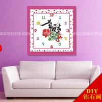 Diamond painting clock round diamond rhinestone pasted painting wall clock cross stitch diamond painting