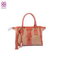 Gumi fashion vintage tassel handbag one shoulder cutout women's cross-body bag  =Bsr505
