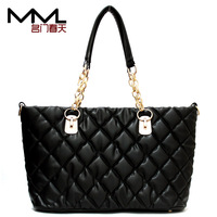 tote bags Top selling 2013 women's handbag plaid pleated dimond chain fashion vintage shoulder bag cross-body handbag