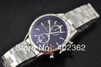 Mens Black Dial Mechanical Calibre 1887 Chronograph Watch CAL Men Dive Watches Sport Luxury Wristwatch