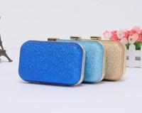 2015 Casual Women's Handbag Dinner Retro Hard Glitter Shoulder Chain Bag Clutch 3 Colors