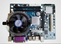 P45 motherboard with CPU Intel XEON L5420 2.5 GHZ Four core fan NVIDIA GT640 2GB graphics card +4GB DDR 3 mainboard