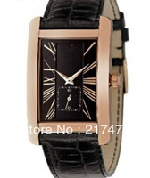 Free shipping+ wholesale! AR0169 Mens Watch Leather Strap Water Resistant watch .