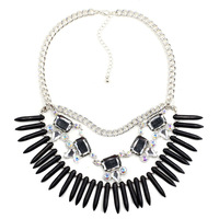 2014 torques wholesale fashion necklace J C Europe costume chunky choker crystal statement Necklaces statement jewelry women