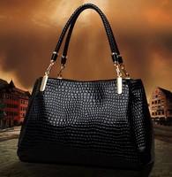 Crocodile pattern genuine leather female bags 2014 female leather one shoulder bag portable women's
